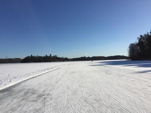 ...en fin tur ute på isen också i helgen.