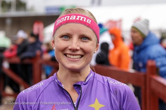 Glad och trött efter målgång på en finfin fjärdeplats! Foto: Göran Johansson
