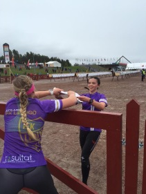 Julia skickar ut Jutta på sista sträckan i tredjelaget