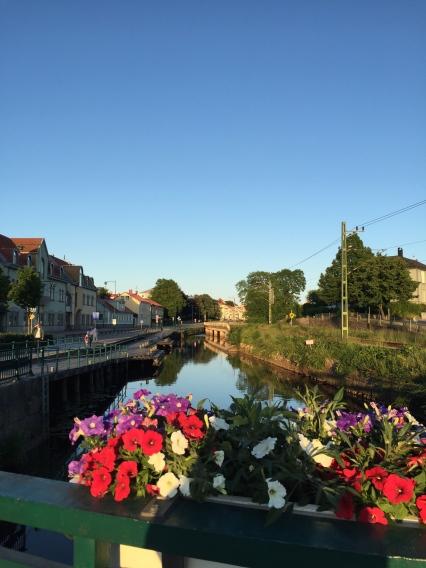 Vackert Ronneby i kvällssolen.
