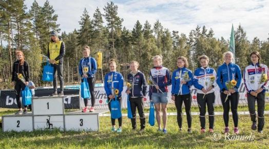 Topp 10 på SM långdistans. Foto: Lars Rönnols