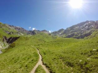 Stigarna på vägen ner i den gröna dalgången, alltså wow!
