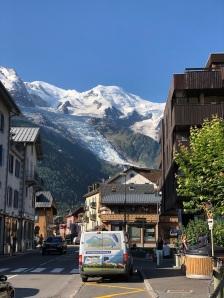 Häftig inramning av Mont Blanc massivet