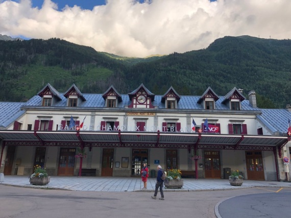 Tågstationen i Chamonix