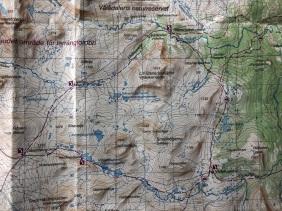 Dagens tur på fjällkartan: Stensdalsstugorna-Vålåstugorna-Gåsenstugorna-Sensdalsstugorna. 43 fina km!